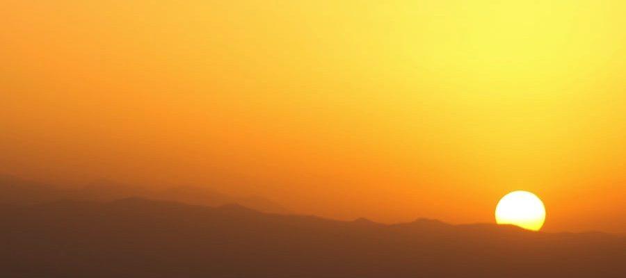 Sunset, courtesy of Unsplash